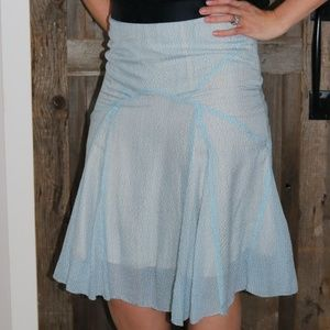 Marc Jacobs silk skirt with contrast waist